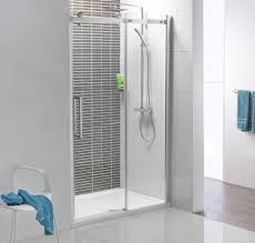 Frame Shower Door Doors Compact Shower Space With A Polished Chrome Frame And Clear