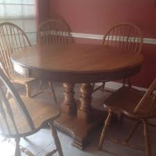 oak dining table and chairs to paint or not hometalk