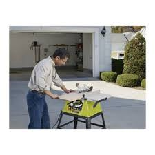 10 In Table Saw Ryobi Factory Reconditioned Zrrts10g 15 Amp 10 In Table Saw With