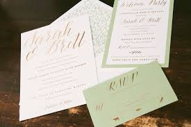 Foil Wedding Invitations Sweetly Sophisticated Bronze Foil Wedding Invitations From Smock