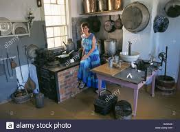 a traditional farm kitchen in a local museum in the amana colonies