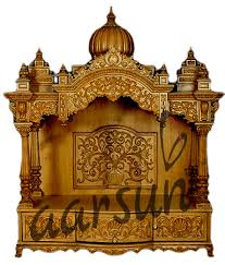 designer wooden temple with doors aarsun woods