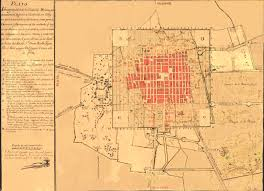 Map Mexico City by Old Mexico Map Mexico City Panoramic De Aguila 1794