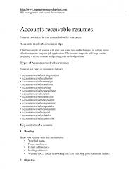 Accounts Receivable And Payable Resume Cover Letter Accounts Payable Supervisor Resume Resume For