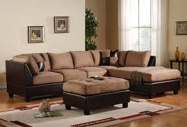 Leather Suede Sofa Terrific Living Room Sectional Covered By Leather Suede Upholstery
