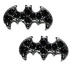batman earrings batman stud rhinestones earrings