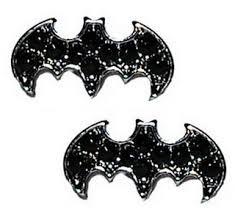 batman earrings batman stud rhinestones earrings