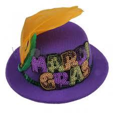 mardi gras hat mardi gras mini top hat purple mini top hats