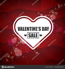 valentines sales valentines day heart shape sale label or sticker on abstract