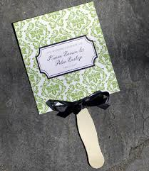 wedding program paddle fan template wedding fan programs template with damask design print
