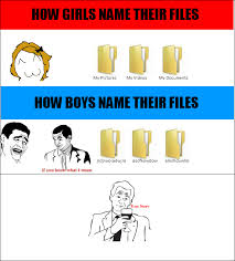 Rage Girl Meme - how boys and girls name their files rage comic by albowtross91 on