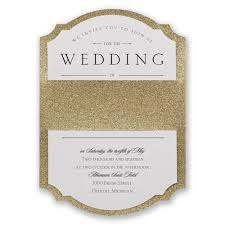 Affordable Wedding Invitations With Response Cards Sparkling Beauty Real Glitter Invitation Invitations By Dawn