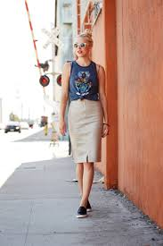casual pencil skirt casual chic summer leather graphic tank x leather pencil skirt