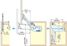 Cabinet Door Lift Systems Vertical Swing Lift Up Mechanism Slu Elan Vertical Swing Lift Up