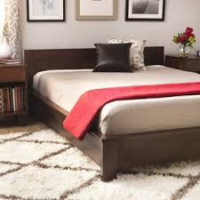 Mattress For Platform Bed - vilas platform king size mid century style bed free shipping