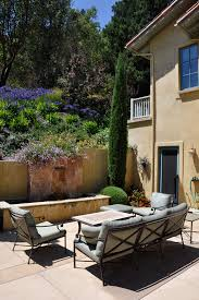Cheap Patio Floor Ideas Gorgeous Garden Hose Reel In Patio Mediterranean With Cheap Patio