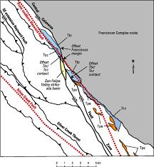 Santa Clara University Map Structural Superposition In Fault Systems Bounding Santa Clara