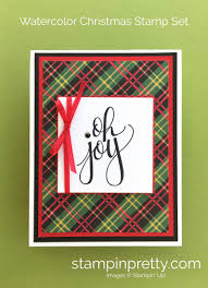 simple saturday holiday card with watercolor christmas stampin