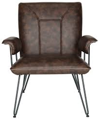 Leather Arm Chairs Brown Bicast Leather Armchair Safavieh Com