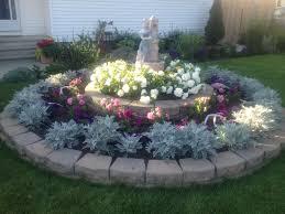 circle flower garden in front of my house garden decor