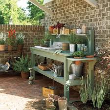 woodwork potting bench plans southern living pdf plans outdoor