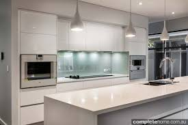 White Contemporary Kitchen - real kitchen an understated contemporary space completehome
