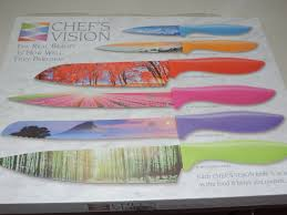 mail4rosey chef s vision knife set these are fantastic i knew my new chef s vision landscape kitchen knife set was going to be one that i absolutely loved and when it arrived and i got to use it no even