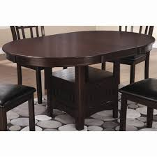 espresso oval dining table coaster 102671