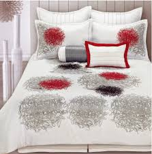 Red Bedroom Comforter Set Total Fab Red White And Black Comforters U0026 Bedding Sets Bright