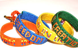 bracelet woven images Woven solidarity bracelet freedom in creation child artists jpg