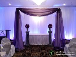 wedding arches montreal montreal wedding eggplant purple ceremony canopy embassy