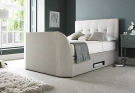 Ottoman Tv Bed Mw Kaydian Design Barnard 5ft Kingsize Ottoman Tv Bed Oatmeal