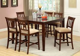 furniture of america cookes 7 piece counter height dining set