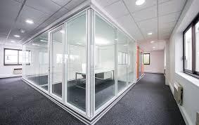 porte de bureau vitr cloison amovible vitré couvre joint bord à bord acoustique