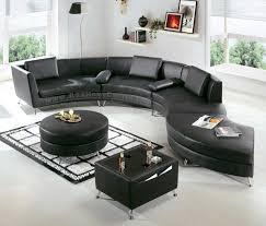 Thomasville Riviera Sofa by Decor Dandy Black Thomasville Leather Sofas Curved For Living