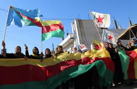Kurdish Flag Kurdish Pyd Refuses To Break Ties With Pkk