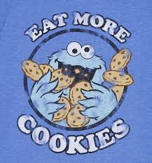 mens cookie monster eat cookies shirt print eating cookies