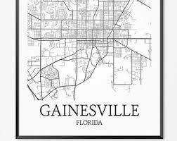 gainesville map gainesville map etsy