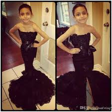 toddler cap and gown beautiful mermaid pageant dresses black lace split