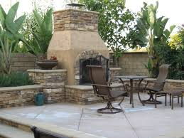 Stacked Stone Outdoor Fireplace - built in patio wall stone outdoor fireplaces ideas creative