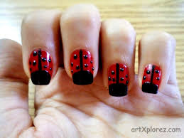 lady bird nail art design artxplorez
