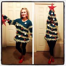 make christmas tree sweater christmas lights decoration
