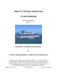 b737 pmdg manual cockpit simulation
