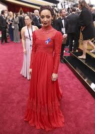 Blue Ribbon Carpet Ruth Negga In Red Plenty Of Gold On Oscars Red Carpet Wate 6 On