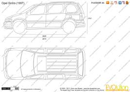 opel sintra 1999 the blueprints com vector drawing opel sintra