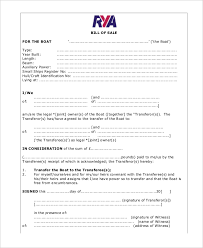 5 boat bill of sale free sample example format free