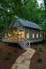 small cottages a 1 091 sq ft tiny house with two porches a stunning interior and