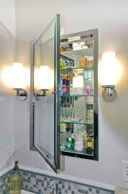 White Recessed Medicine Cabinet With Mirror Bathroom Cabinets Impressive Recessed Bathroom Medicine Cabinets