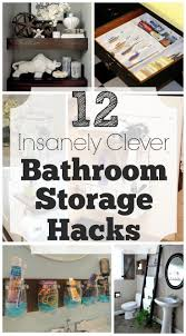 best 25 clever bathroom storage ideas only on pinterest clever