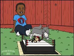Backyard Wrestling Characters The Immersive Pro Wrestling World Of Illustrator Adam Ratliff